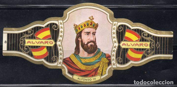 ALVARO, REYES DE ESPAÑA, Nº 49, ORO CLARO. (Coleccionismo - Objetos para Fumar - Vitolas)