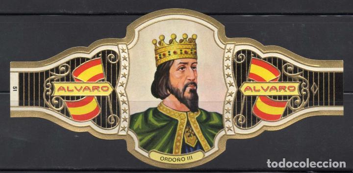 ALVARO, REYES DE ESPAÑA, Nº 51, ORO CLARO. (Coleccionismo - Objetos para Fumar - Vitolas)