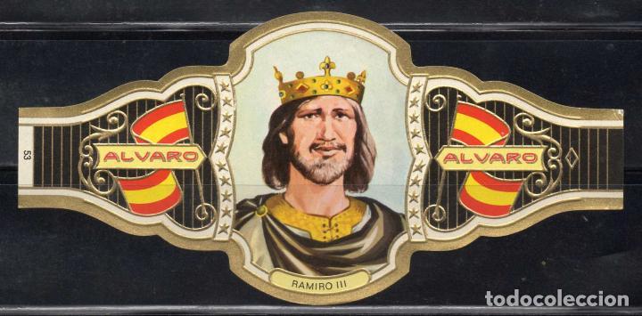 ALVARO, REYES DE ESPAÑA, Nº 53, ORO CLARO. (Coleccionismo - Objetos para Fumar - Vitolas)
