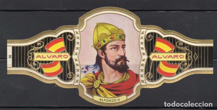 ALVARO, REYES DE ESPAÑA, Nº 55, ORO CLARO. (Coleccionismo - Objetos para Fumar - Vitolas)