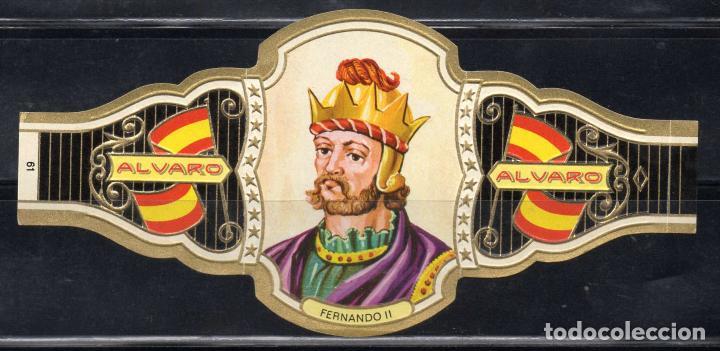 ALVARO, REYES DE ESPAÑA, Nº 61, ORO CLARO. (Coleccionismo - Objetos para Fumar - Vitolas)