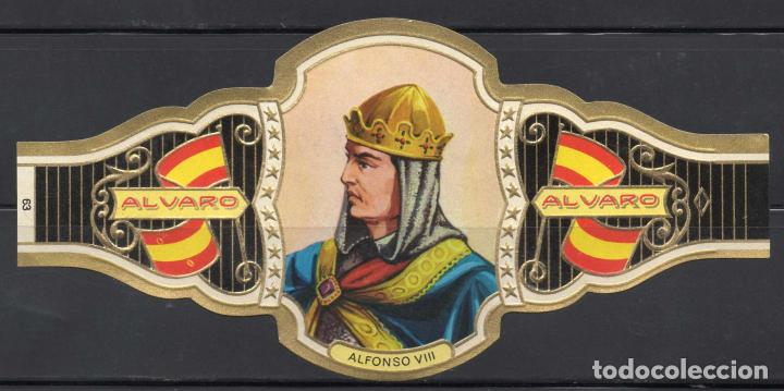 ALVARO, REYES DE ESPAÑA, Nº 63, ORO CLARO. (Coleccionismo - Objetos para Fumar - Vitolas)