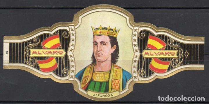 ALVARO, REYES DE ESPAÑA, Nº 67, ORO CLARO. (Coleccionismo - Objetos para Fumar - Vitolas)
