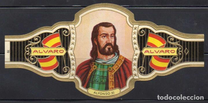 ALVARO, REYES DE ESPAÑA, Nº 70, ORO CLARO. (Coleccionismo - Objetos para Fumar - Vitolas)