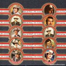 Vitolas de colección: DERK DE VRIES, MC. CLOUD, SERIE 47, 10 VITOLAS, SERIE COMPLETA.. Lote 118398951