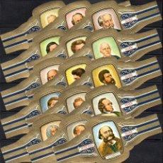 Vitolas de colección: VICTOR HUGO, COMPOSITORES, SERIE F, GRAN FORMATO, 15 VITOLINAS, SERIE COMPLETA.. Lote 118399171