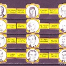 Vitolas de colección: SAELENS, JEFES DE ESTADO, S.M. - F.P. AMARILLO, 12 VITOLAS, SERIE COMPLETA.. Lote 121383087
