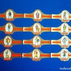Vitolas de colección: SENATOR, GUERREROS MEDIEVALES, SERIE 2ª, 12 VITOLAS, SERIE COMPLETA.. Lote 121512287