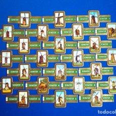 Vitolas de colección: SENATOR, MOLINOS DE BELGICA, VERDE, 24 VITOLAS, SERIE COMPLETA.. Lote 121512403