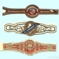 Vitolas de colección: 3 VITOLAS CLASICAS ANTIGUAS - PROCEDENCIA USA - TEMÁTICA ESCUDOS. Lote 122380575