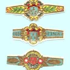 Vitolas de colección: 3 VITOLAS CLASICAS ANTIGUAS - PROCEDENCIA USA - TEMÁTICA ESCUDOS. Lote 122381239