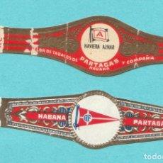 Vitolas de colección: 2 VITOLAS CLASICAS ANTIGUAS - TEMÁTICA BANDERAS - MARCA PARTAGAS. Lote 122414423