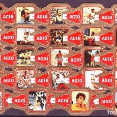 Vitolas de colección: AGIO, OLIMPIADAS 1972, SERIE 2ª, ROJO, 24 VITOLAS, SERIE COMPLETA.. Lote 124146815