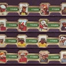 Vitolas de colección: RUBENS, MOTORISTAS, VERDE, 24 VITOLAS, SERIE COMPLETA.. Lote 127667267