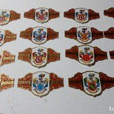 Vitolas de colección: LOTE 16 VITOLAS ALVARO SERIE I HERALDICA FORMATO NORMAL. Lote 128299395