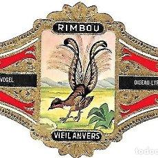 Vitolas de colección: VITOLAS VIEIL ANVERS SERIE 1ª AVES GRAN FORMATO RIMBOU, 15 VIT COMPLETA. Lote 130935960