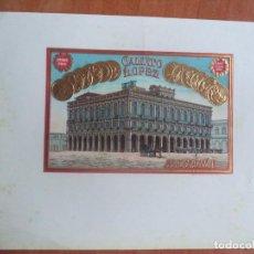 Vitolas de colección: HABILITACION. VISTA- BOFETON. CALIXTO LOPEZ. HABANA. SAINT LOUIS. 1904.. Lote 131200648