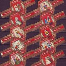 Vitolas de colección: PALADIJN, DAMAS Y MOSQUETEROS, 10 VITOLAS, SERIE COMPLETA.. Lote 131376838