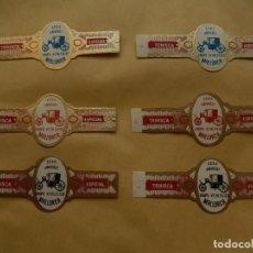 Vitolas de colección: SEIS VITOLAS. TENISCA. XXXIX ANIVERSARIO. GRUPO VITOLFILICO MALLORCA. BALEARES. VITOLA.. Lote 131947346