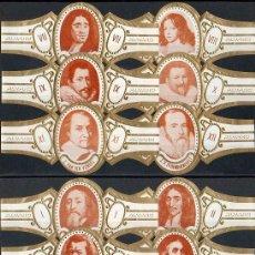 Vitolas de colección: ALVARO. SERIE COMPLETA. PINTURA (RETRATOS DE HOMBRES).. Lote 146204289
