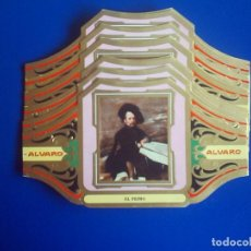 Vitolas de colección: ALVARO, VELAZQUEZ, SERIE 3ª, 12 VITOLINAS, SERIE COMPLETA.. Lote 133248858