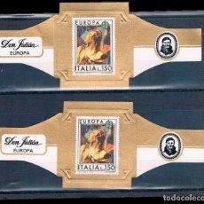 Vitolas de colección: BONITAS VITOLAS DON JULIAN Y ÁLVARO 4 FOTOS. Lote 133771274