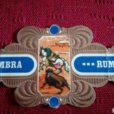 Vitolas de colección: VITOLA SOL Y SOMBRA RUMBO SERIE TAURINA N°5. Lote 136157409