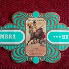 Vitolas de colección: VITOLA SOL Y SOMBRA RUMBO SERIE TAURINA N°13. Lote 136157864