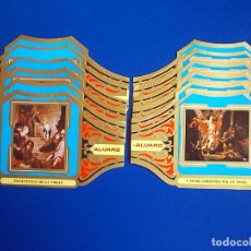Vitolas de colección: ALVARO, VALDES LEAL, 12 VITOLINAS, SERIE COMPLETA.. Lote 136748246