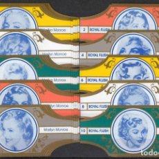 Vitolas de colección: ROYAL FLUSH. COLECCIÓN MARILYN MONROE. (CINCO SERIES COMPLETAS, 50 UNIDADES).. Lote 137203650