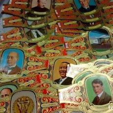 Vitolas de colección: VITOLAS SERIE PREMIOS NOBEL SURTIDO: PAZ, QUIMICA, FISICA, LITERATURA LOTE DE 29 UDS. PUROS ALVARO. Lote 138586350