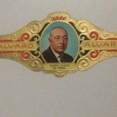 Vitolas de colección: VITOLA ALVARO N161, JUAN I. LUCA DE TENA.. Lote 138802856