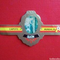 Vitolas de colección: VITOLA CAPOTE ESTADIO EL MOLINON MUNDIAL 82 GIJON TABACOS CAPOTE. Lote 138985129
