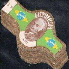 Vitolas de colección: SERIE DE VITOLAS COMPLETA (S.M.I.) (20 UNIDADES). MANDATARIOS BRASILEÑOS.. Lote 144122546