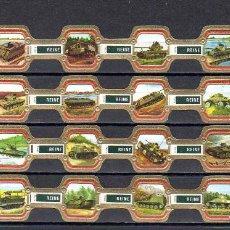 Sammlung von Banderolen - REINE ELISABETH, TANQUES MILITARES, 24 VITOLAS, SERIE COMPLETA. - 145339118