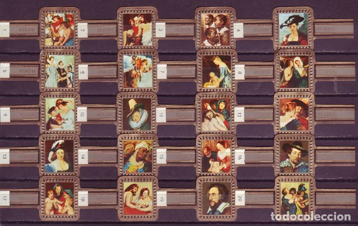 RUBENS, CUADROS DE RUBENS, GRIS, 20 VITOLAS, SERIE COMPLETA. (Coleccionismo - Objetos para Fumar - Vitolas)