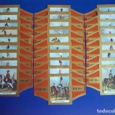 Anéis de charuto de coleção: REIG, CABALLERIA INGLESA, 28 VITOLINAS, SERIE COMPLETA.. Lote 146442302