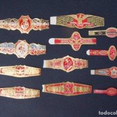 Anéis de charuto de coleção: LOTE DE 12 VITOLAS , VITOLA CUBANA , TODAS DE LA MARCA BOCK Y CIA Y TODAS DIFERENTES ...A891. Lote 146531366