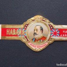 Anéis de charuto de coleção: ANTIGUA Y ESCASA VITOLA - KING EDWARD - FLOR DE J. A. BANCES - HABANA ... A910. Lote 146545298