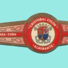 Vitolas de colección: VITOLA CUBANA ANTIGUA (CHINCHAL) - ALMIRANTE - CRISTOBAL COLON - ESCUDO. Lote 195193872