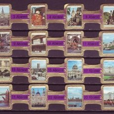 Vitolas de colección: ABONNE, LONDRES, MORADO, 24 VITOLAS, SERIE COMPLETA.. Lote 148168786