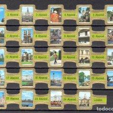 Vitolas de colección: ABONNE, LONDRES, VERDE, 24 VITOLAS, SERIE COMPLETA.. Lote 148168898