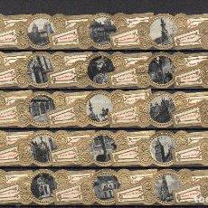 Vitolas de colección: ABONNE, MONUMENTOS DE AMBERES, 25 VITOLAS, SERIE COMPLETA.. Lote 148169150
