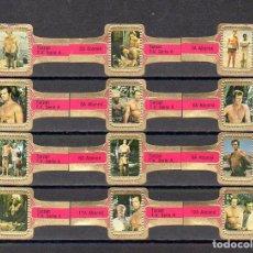 Vitolas de colección: ABONNE, TARZAN, FUXIA, 12 VITOLAS, SERIE COMPLETA.. Lote 148169434