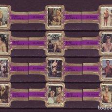 Vitolas de colección: ABONNE, TARZAN, MORADO, 12 VITOLAS, SERIE COMPLETA.. Lote 148169466