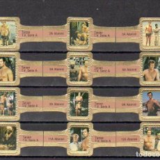 Vitolas de colección: ABONNE, TARZAN, SEPIA, 12 VITOLAS, SERIE COMPLETA.. Lote 148169486
