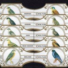 Vitolas de colección: ROYAL FLUSH, AVES, SERIE 3ª, BLANCO/ORO, 10 VITOLAS, SERIE COMPLETA.. Lote 148171626