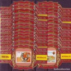 Vitolas de colección: REIG, MUNDIAL DE FUTBOL ESPAÑA-82, SERIE 2ª, 26 VITOLINAS, SERIE COMPLETA.. Lote 148171738