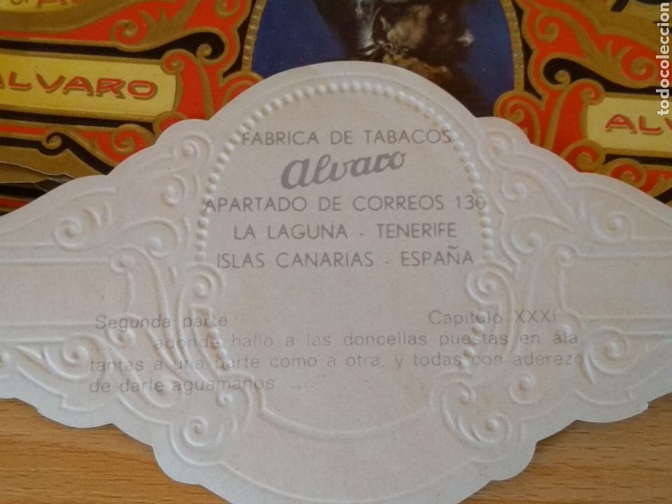 Vitolas de colección: **LOTE DE 20 VITOLAS DE CAJA DE PUROS DE LA COLECCIÓN, -- DON QUIJOTE DE LA MANCHA --(14/7 CM)** - Foto 2 - 151271169