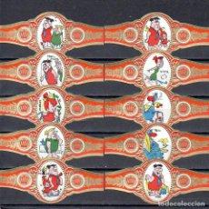 Vitolas de colección: GRAAF TILLY, LOS PICAPIEDRAS, NARANJA, 10 VITOLAS, SERIE COMPLETA.. Lote 151439282